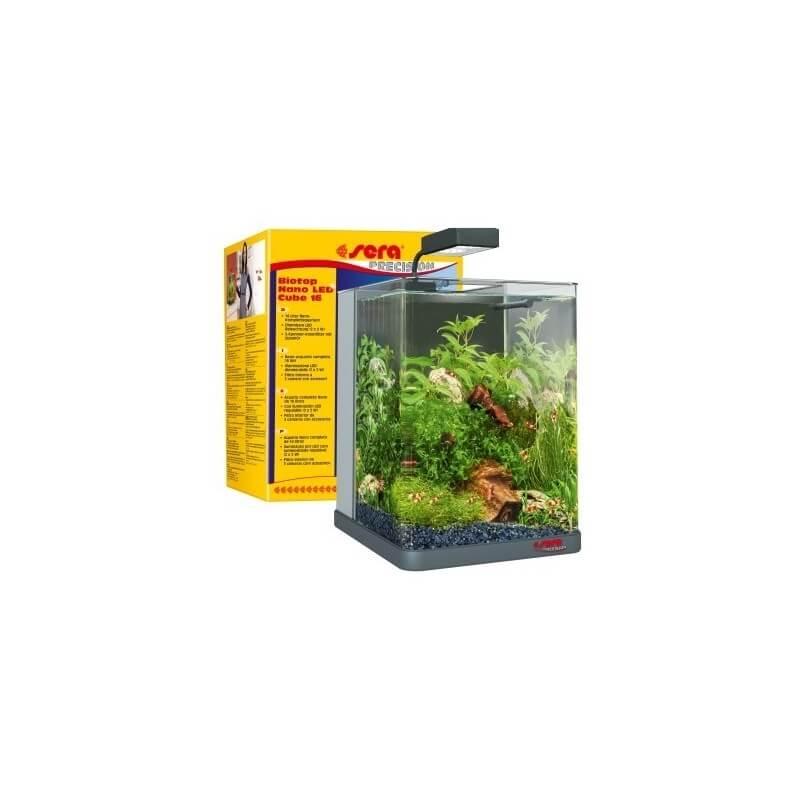 Sera biotop nano led cube 16 acquario 16 lt aquazoomania for Acquario completo prezzi