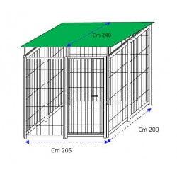 Siderbox Box con copertura 2m x 2m