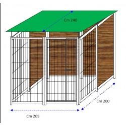 Siderbox Box con retro in legno 2m x 2m