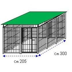 Siderbox Box con copertura 3m x 2m