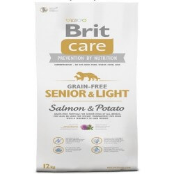 Brit Care Senior e Light Salmon & Potato Grain Free crocchette cane senza cereali