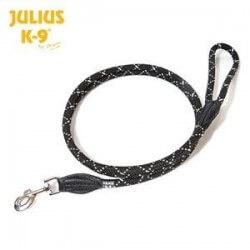 Julius K9 - Guinzaglio tubolare in nylon nero 12mm x 2m