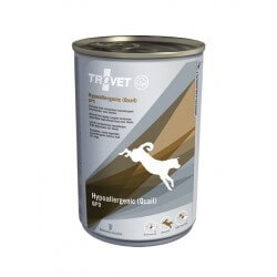 Trovet Hypoallergenic Quail Grain Free 400g umido cane