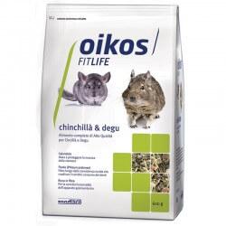 Oikos Chinchilla & Degu 600g alimento completo per cincillà e degu