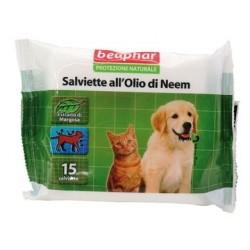 Beaphar Protezione Naturale Salviette all'Olio di Neem per cane e gatto