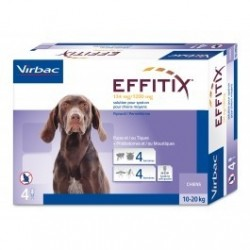 Virbac Effitix cane 10-20kg 4 pipette