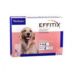 Virbac Effitix cane 20-40kg 4 pipette