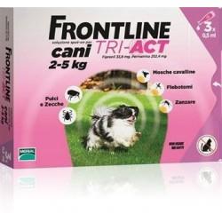 Frontline Tri-Act cane 2-5kg 3 pipette da 0,5ml