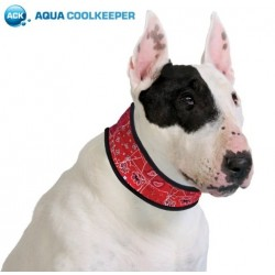 Aqua Coolkeeper Collare Refrigerante Red Western