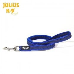 Julius K9 Guinzaglio Color&Gray nylon e gomma con maniglia 20mm x 1,2m BLU