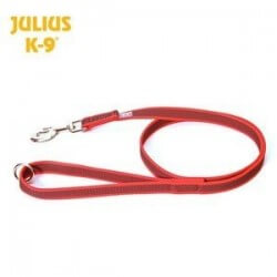 Julius K9 Guinzaglio Color&Gray nylon e gomma con maniglia 20mm x 1,2m RED