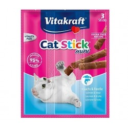 Vitakraft Cat Stick Mini con Salmone e Trota 18g