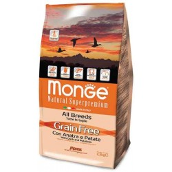 Monge All Breeds Grain Free con Anatra e Patate