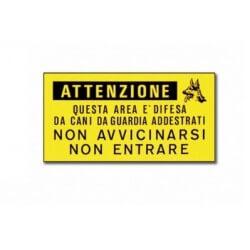 """Camon Cartello """"Attenzione"""""""