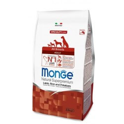 Monge All Breeds Adult Agnello, Riso e Patate 12kg crocchette cane