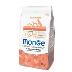 Monge All Breeds Adult Salmone e Riso 12kg crocchette cane