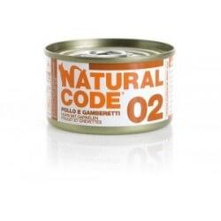 Natural Code 02 Pollo & Gamberetti 85g umido gatto