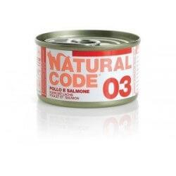 Natural Code 03 Pollo & Salmone 85g umido gatto