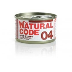 Natural Code 04 Pollo & Tonno 85g umido gatto