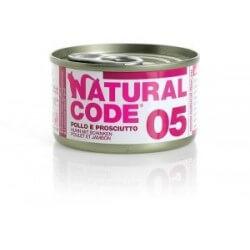 Natural Code 05 Pollo & Prosciutto 85g umido gatto
