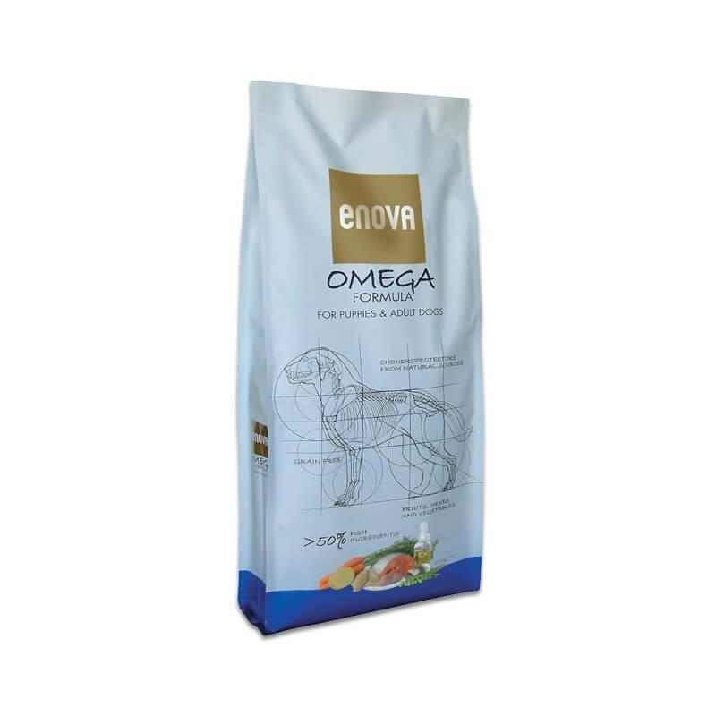 Enova Omega 12kg senza cereali crocchette cane