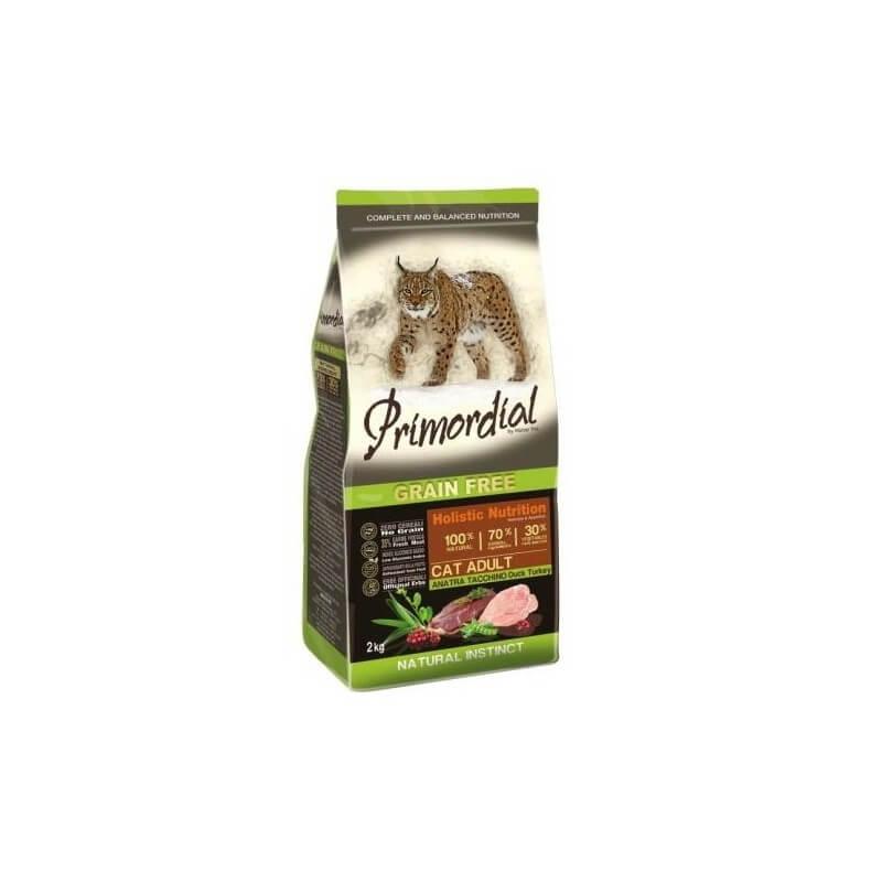 Primordial Adulto Tacchino e Anatra 2kg crocchette grain free gatto