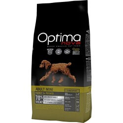 OptimaNova Adult Mini Pollo e Patate GRAIN FREE crocchette cane