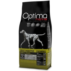 OptimaNova Adult Large Pollo e Patate 12kg GRAIN FREE crocchette cane