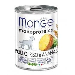 Monge Pollo, Riso e Ananas 400g umido monoproteico per cani