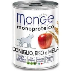 Monge Coniglio, Riso e Mela 400g umido monoproteico per cani
