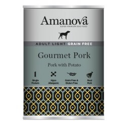 Amanova Adult Medium Salmon & Potato 400g umido cane GRAIN FREE