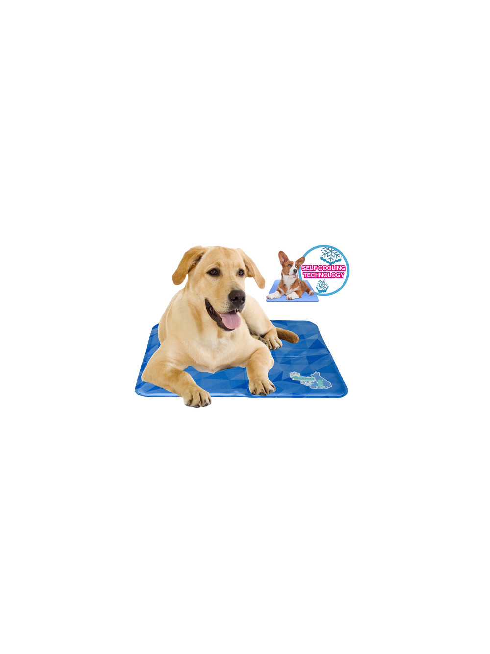 Coolpets dog mat tg large materassino refrigerante for Materassino cane
