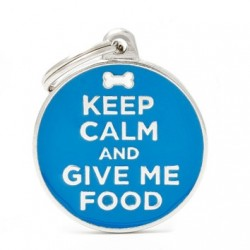 Medaglietta Keep Calm and Give Me Food 2017