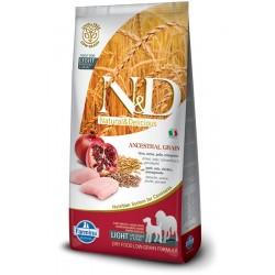N&D Pollo e Melograno LIGHT Adult low grain 12kg crocchette cane