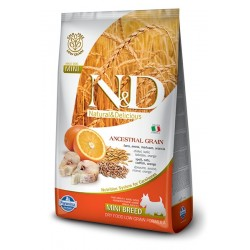 N&D Merluzzo e Arancia MINI Adult low grain 7kg crocchette cane
