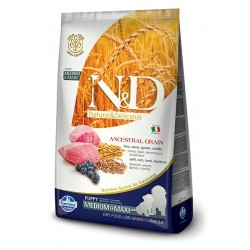 N&D Puppy Agnello e Mirtillo MEDIUM low grain 12kg crocchette cane