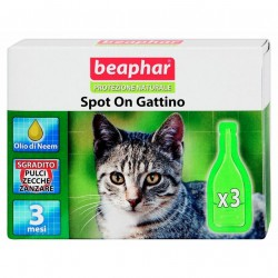 Beaphar antiparassitario naturale spot on Gattino