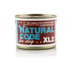Natural Code Dog XL 2 Agnello con Carote e Patate 185g umido cane