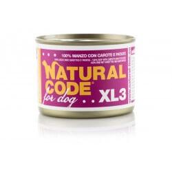 Natural Code Dog XL 3 Manzo con Carote e Patate 185g umido cane