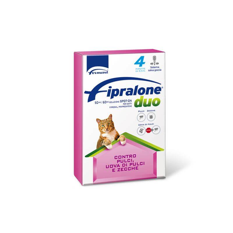 Fipralone Duo Spot-On Gatto 4 pipette