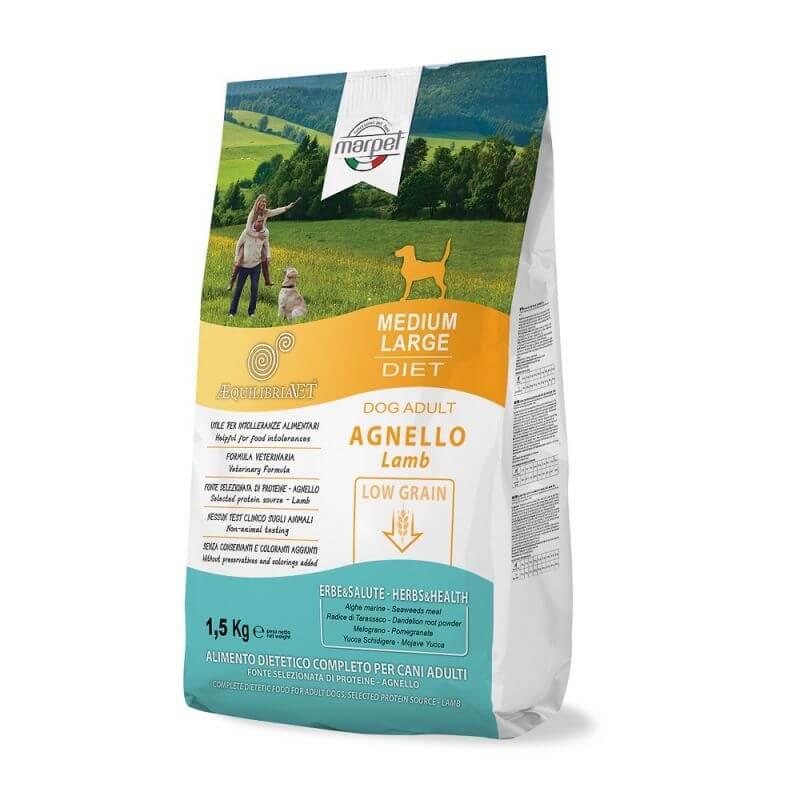 Equilibria Dog 100% Agnello Low Grain Adult Medium Large 1,5kg
