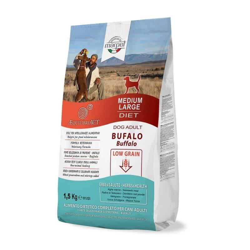 Equilibria Dog 100% Bufalo Low Grain Adult Medium Large 1,5kg