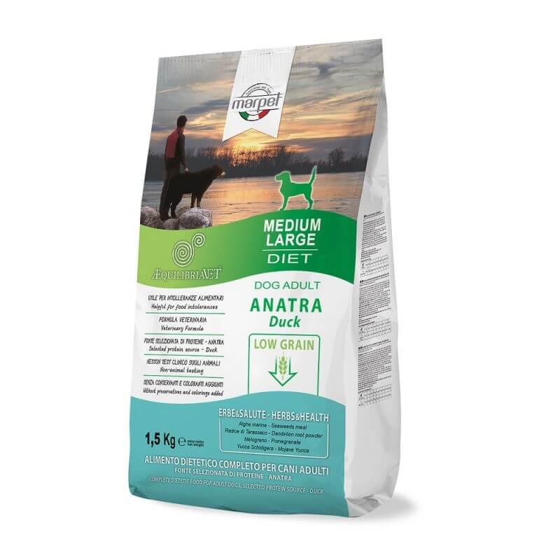 Equilibria Dog 100% Anatra Low Grain Adult Medium Large 1,5kg