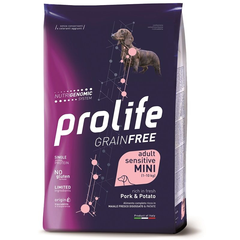 Prolife Mini Maiale e Patate Nutrigenomic crocchette cane