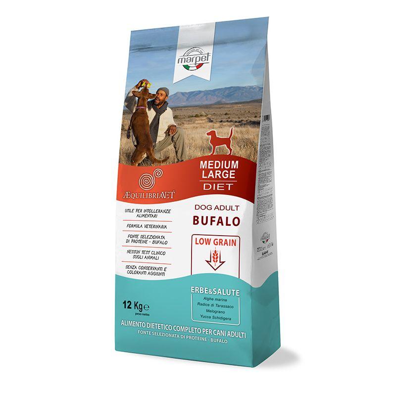 Equilibria Dog 100% Bufalo Low Grain Adult Medium Large 12kg