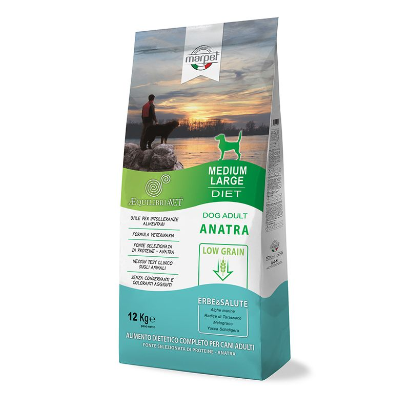 Equilibria Dog 100% Anatra Low Grain Adult Medium Large 12kg