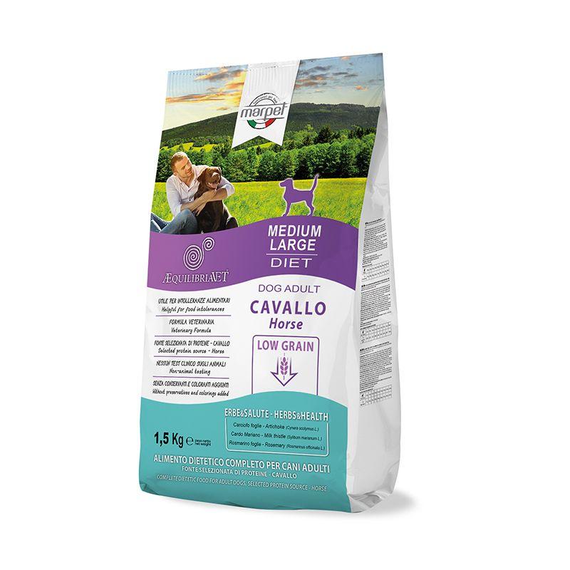 Equilibria Dog 100% Cavallo Low Grain Adult Medium Large 1,5kg