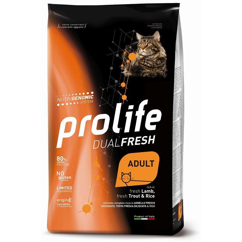 Prolife Agnello Trota e riso Adult 7kg Nutrigenomic crocchette gatto