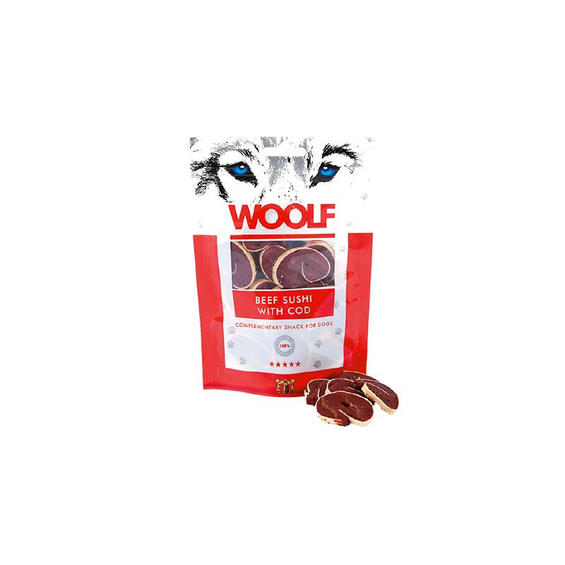 Woolf Sushi di Manzo e Merluzzo 100g snack cani