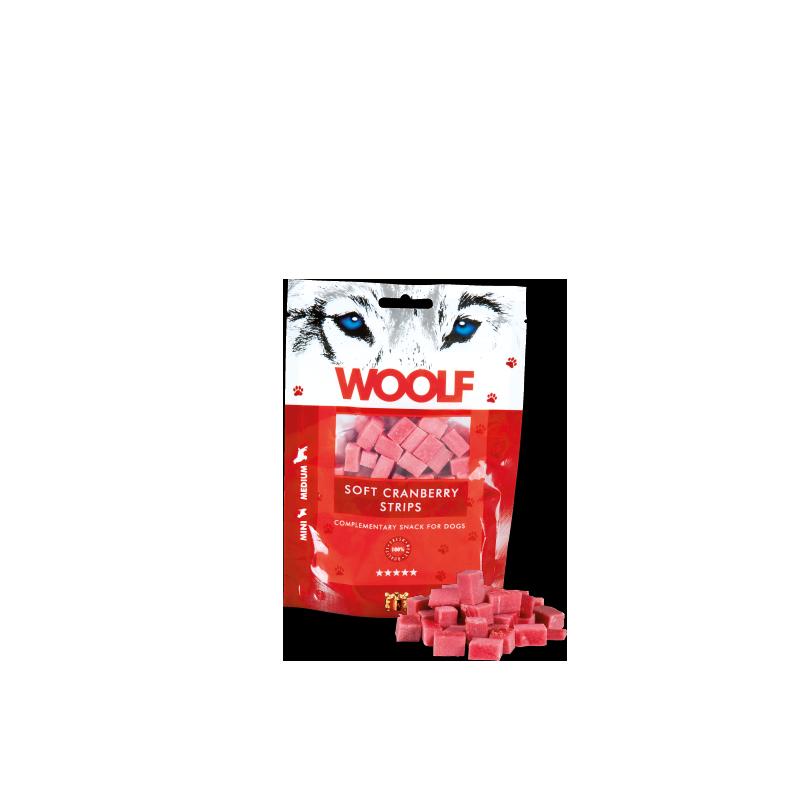 Woolf Quadratini morbidi al mirtillo rosso 100g snack cani